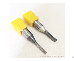 Tct Tungsten Carbide Double Two Straight Flutes Cnc Router Cutter Bits