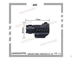 Luxnwatts 3v Most Powerful Led Flashlight 80g Aluminum Alloy 180lm 100m Lighting Distance