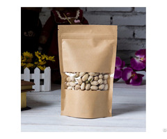 500g Capacity Kraft Paper Standup Bag With A Clear Square Window