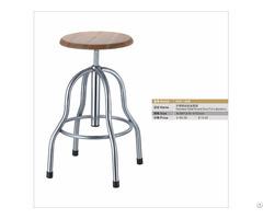 Wooden Seating Metal Foot Laboratory Stool
