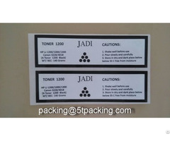 Shiny White Pet Printed Adhesive Label In Paint Kettle