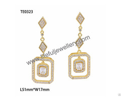 S925 Silver Jewelry Hot Sale Wax Setting Ear Ring With Cz