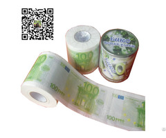 100% Virgin Wood Pulp Printed Colored Toilet Paper Tissue Roll