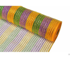 Gold Purple Emerald Green Strip Plastic Wrapping Mesh For 70c23i09i24x23