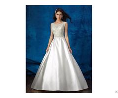 Custom Made Elegant Mermaid Wedding Dress With Lace Beading For Bridal