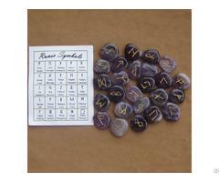 Amethyst Gemstone Rune Stones