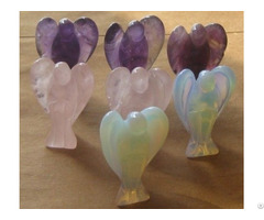Assorted Mixed Crystal Gemstone Pocket Standing Angels