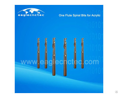 Acrylic Cutting Single Flute Spiral Cut Router Bit For Sale
