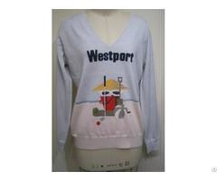 Cute Sweater Womens Knitwear Tops Intarsia
