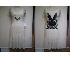 White Sweater Dress Women Knits Fashion