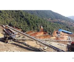 V Belt Conveyor For Convenient Stone Transportation In Rock Production Line