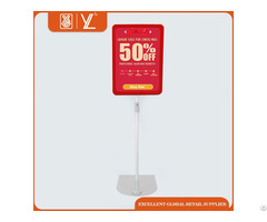 Plastic A4 Price Frame Matel Poster Display Stand