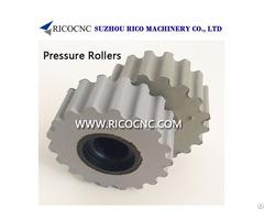Rubberized Hold Down Edgebander Pressure Rollers Gear Wheels For Edgebanding Machines