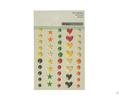 Heart Colorful Drops 3d Epoxy Crystal Stickers
