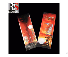 Customized Clear Square Bottom Plastic Cellophane Bag For Coffe Packaging