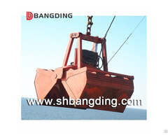 Hydraulic Clamshell Grab Bucket For Bulk Cargo Loading And Unloading