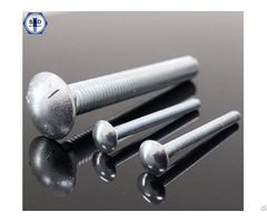 Carriage Bolt With Mushroom Head And Square Neck Half Full Unf Unc Thread Type Zinc Plated