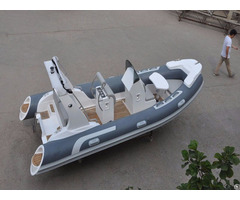 Lianya 5 2m Luxury Fiberglass Hull Inflatable Rib Boat With Outboard Engine