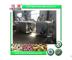 Stainless Steel Batch Rotary Drum Roaster Peanut Roasting Machine