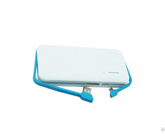 11000mah Power Bank Slim Card Built In Cable Portable Mobile Phone Fast Charger External Battery