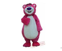 Pink Bear Cartoon Mascot Costume For Adults