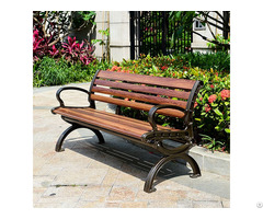 Outdoor Metal And Wooden Bench