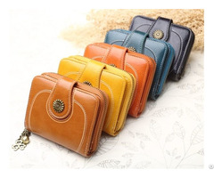 Women S Leather Secure Spacious Cute Ladies Zipper Card Wallet Small Purse