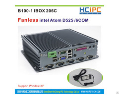 Hcipc Ibox 206c Intel Atom525 Fanless Industrial Computer Mini Box Pc With Any Cable 6com R232