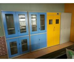 Steel Laboratory Glassware Cupboard Utensil Cabinet