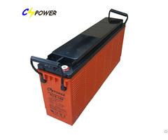 Slim Battery Front Terminal Gel 12v100ah For Solar Power
