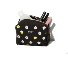 Cosmetic Bag Manufacturer Canvas Daisy Makeup Bags Cosmetics Promotional