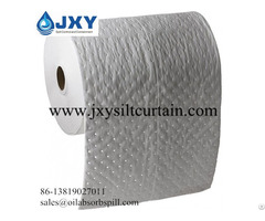 Dimpled And Perforated Oil Absorbent Roll