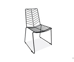 Elegant Steel Wire Dining Chairs