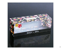 Custom Folding Clear Printing Pvc Plastic Gift Box For Cosmetic Packaging