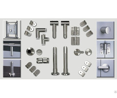 Bathroom Toilet Cubicle Hardware Self Closing Partition Door Hinges