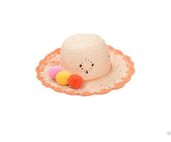 Children Kids Cute Handmade Paper Straw Hat