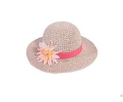 100% Hand Crochet Kids Paper Straw Floppy Hat