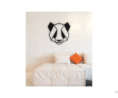 Linewallart Panda Metal Wall Art Portrait