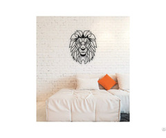 Linewallart Lion Head Figure For Home And Office Decor