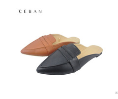 Women Pu Pointed Toe Mules Slippers Pumps