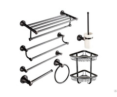 High Quality 7 Pieces Oil Rubbed Bronze Traditional Bathroom Towel Bar Accessories Set Wholesale
