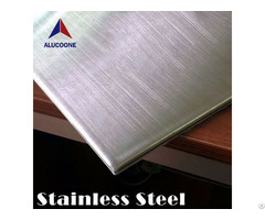 Alucoone Hairline Brush Brushed Emboss Polished Stainless Steel Composite Panel