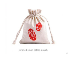 Small Cotton Drawstring Gift Bag