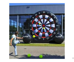 Inflatable Football Velcro Dart Shooting Outdoor Fun Sport Game