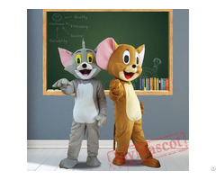 Tom Cat Jerry Mouse Cartoon Mascot Costumes