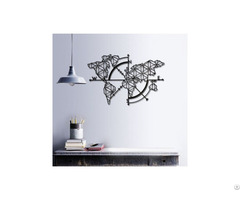 Linewallart Metal World Map Figure Portrait