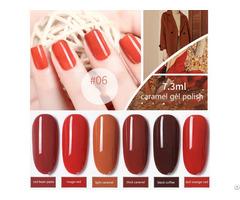 Nail Gel Polish Caramel Color Soak Off Uv