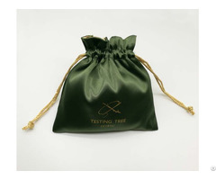 Double Layers Satin Drawstring Gift Bag