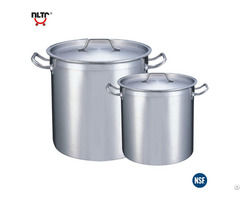 Stainless Steel Durable Thicker Base Deep Storage Pot