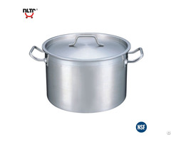 Stainless Steel Durable Thicker Base Shallow Storage Pot
